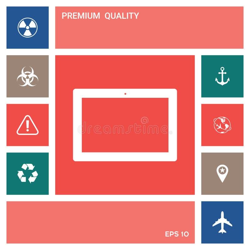 Komputerowa pastylka z pustym ekranem, ikona elementy projektów galerii ikony widzą odwiedzić twój więcej moich piktogramy proszę ilustracji