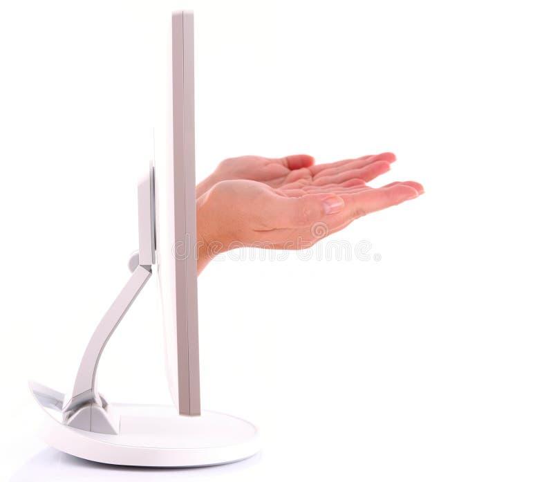 komputerowa ręka obrazy stock