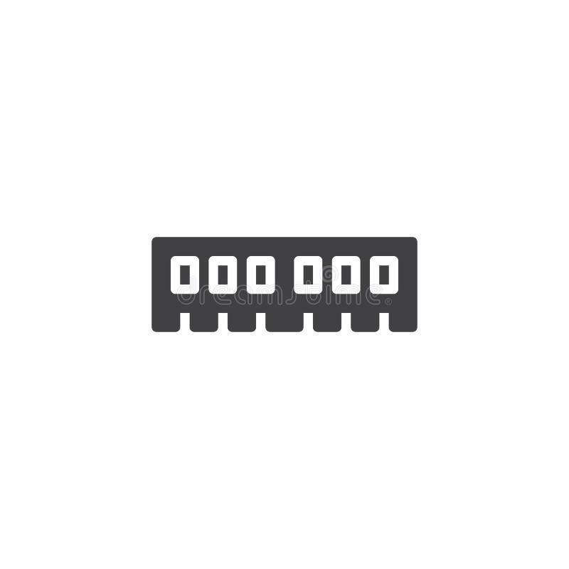 Komputerowa RAM wektoru ikona ilustracja wektor