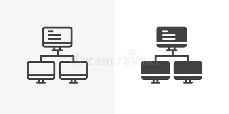 Komputerowa serwer ikona royalty ilustracja