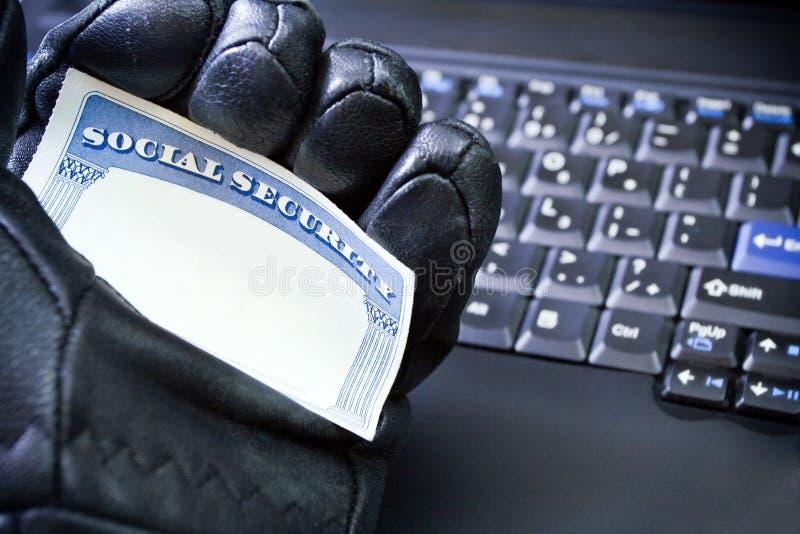 komputerowa tożsamości laptopu kradzież obraz stock