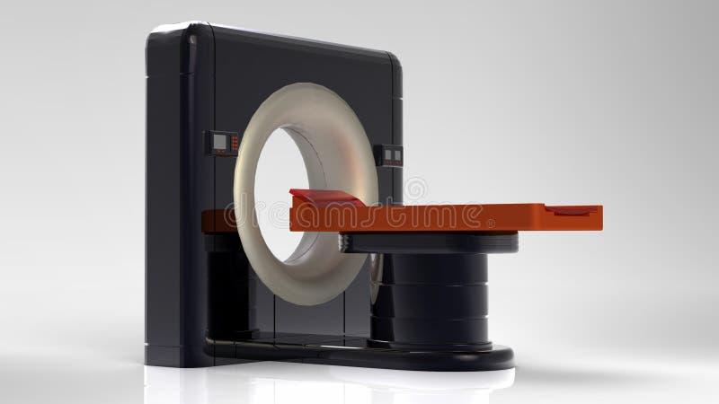 Komputerowa tomograficzna przeszukiwacza 3d ilustracja zdjęcia royalty free