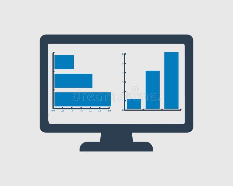 Komputerowa wykres ikona ilustracja wektor