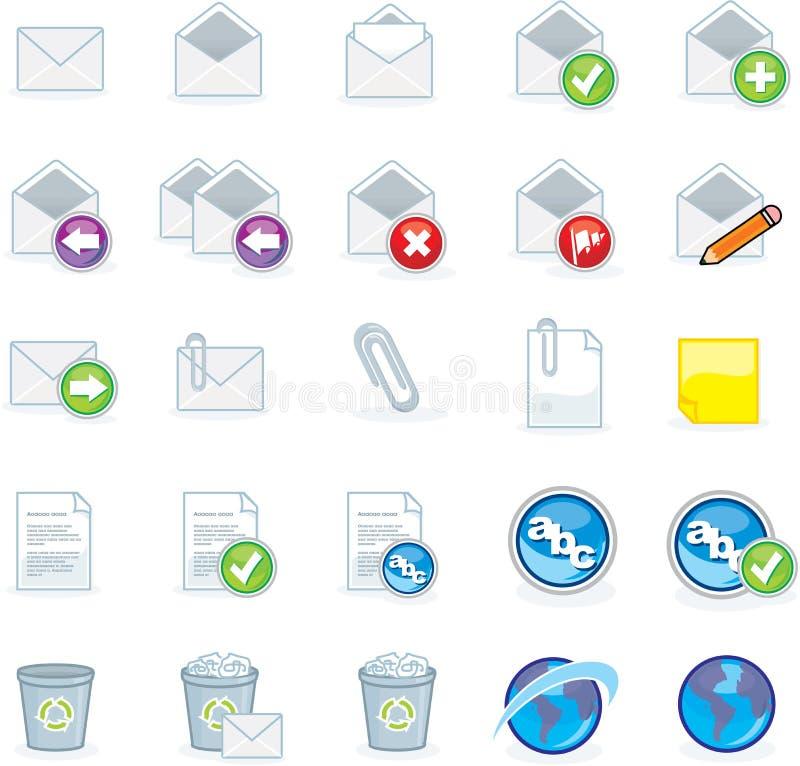 komputerowe ikony ilustracja wektor
