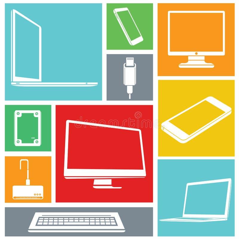 Komputerowe ikony royalty ilustracja