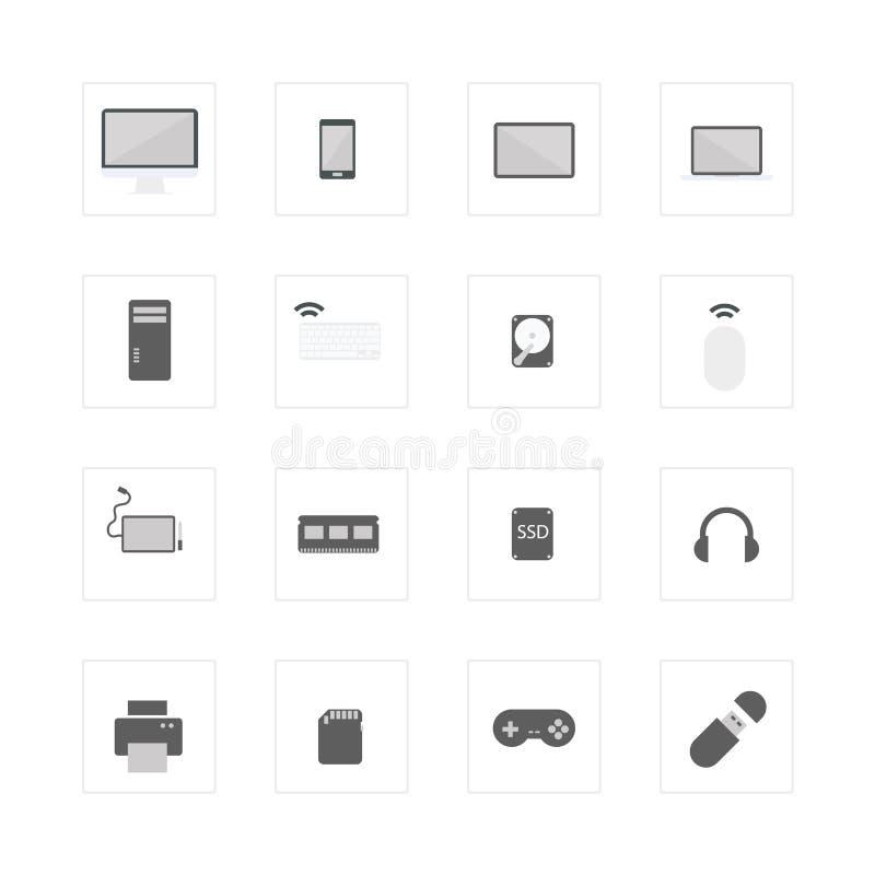 Komputerowe przyrząd ikony ustawiać royalty ilustracja