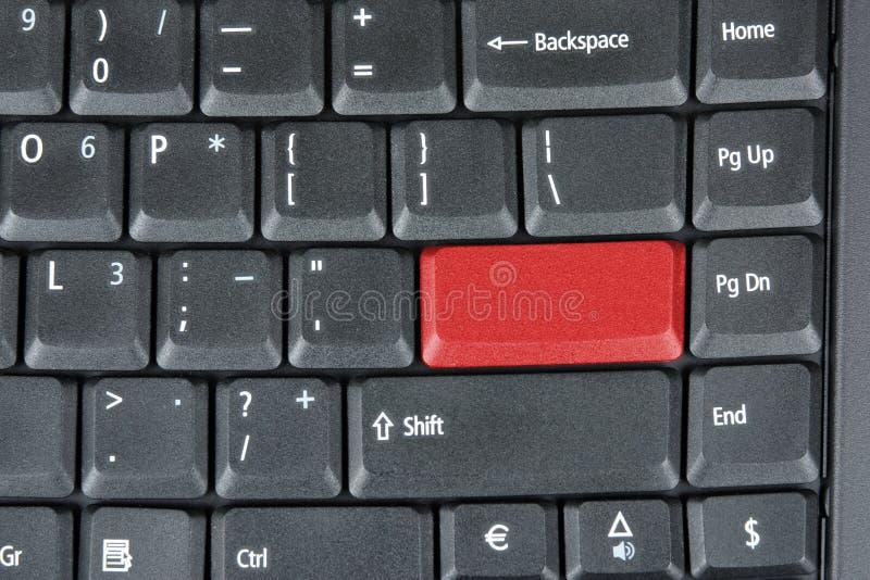 komputerowego klucza klawiatury czerwień fotografia royalty free