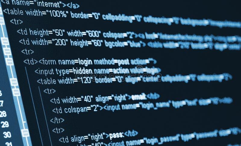 Komputerowego kodu HTML zdjęcie royalty free