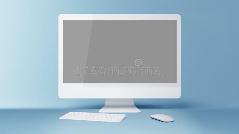Komputerowego pokazu hd Komputeru stacjonarnego ekran royalty ilustracja