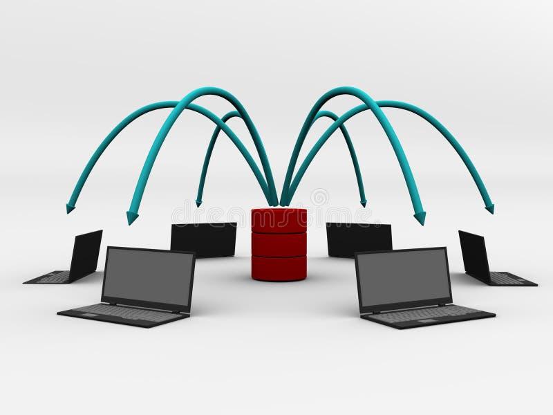 komputerowego projekta cyfrowa sieć ilustracji