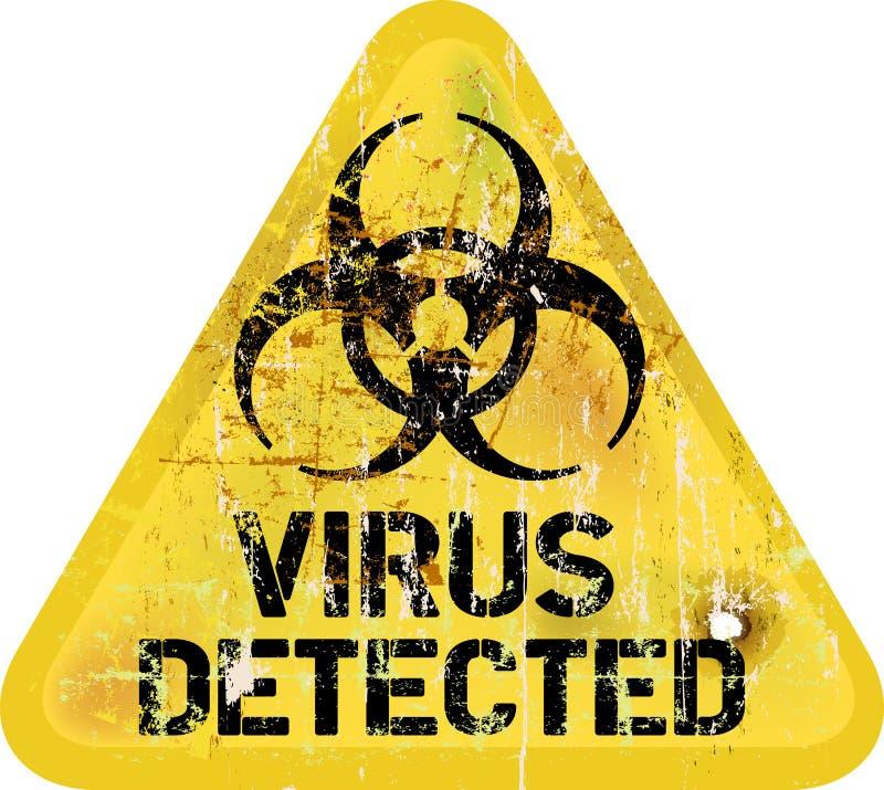 Komputerowego wirusa ostrzeżenie ilustracji