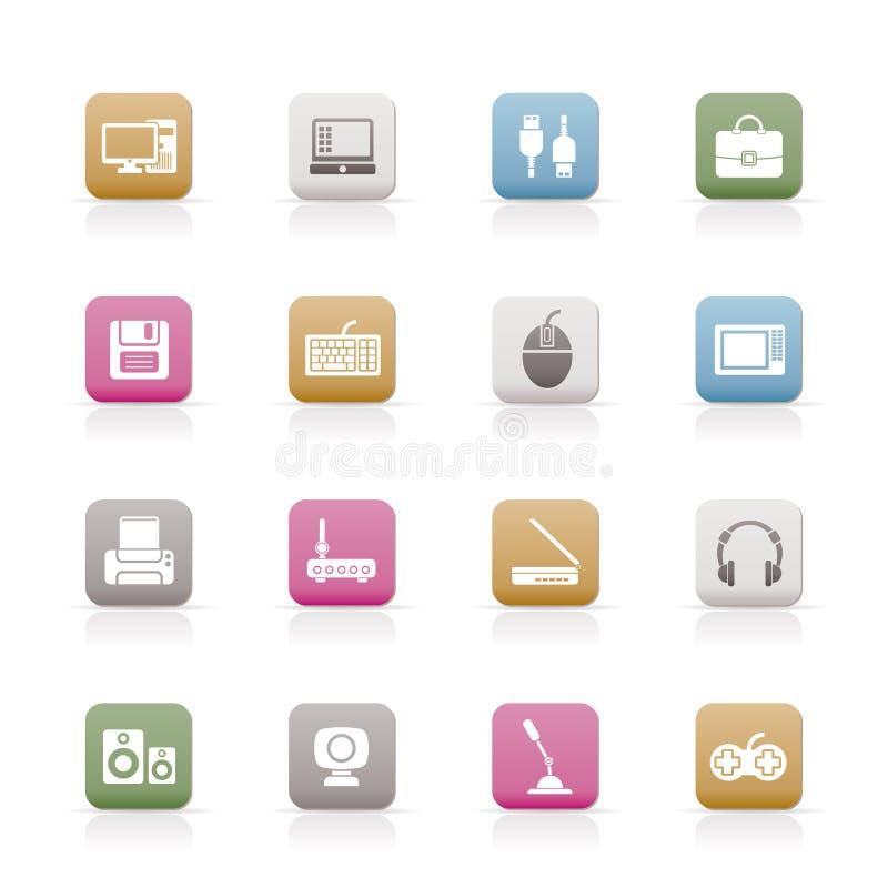 komputerowego wyposażenia ikon peryferia ilustracji