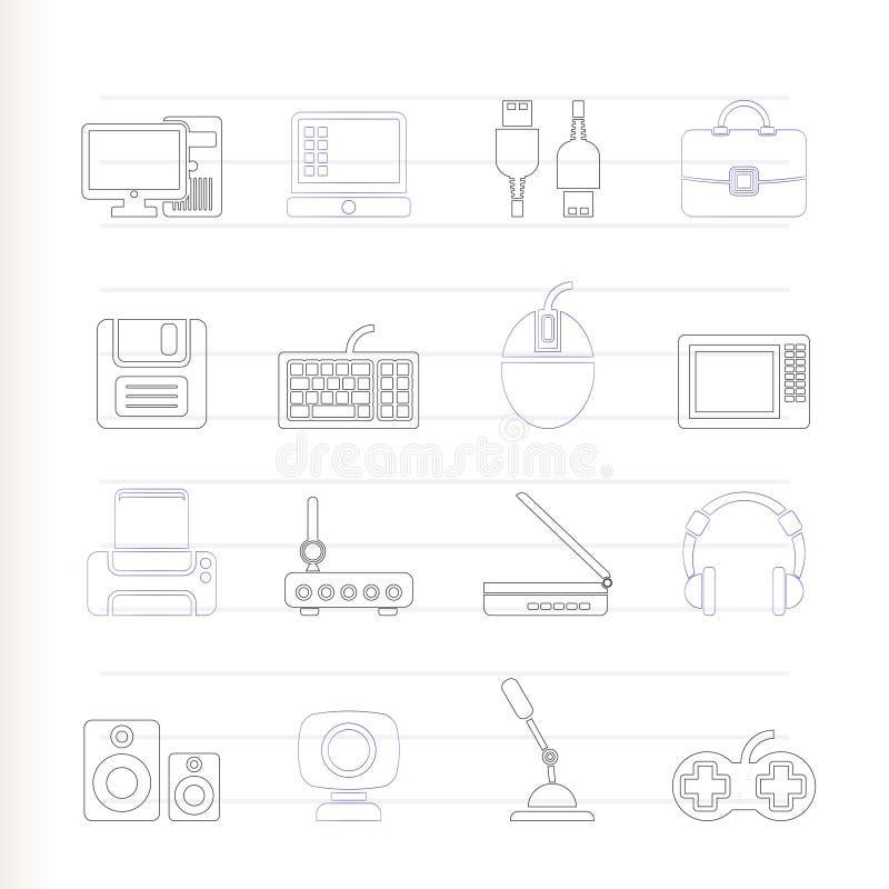 komputerowego wyposażenia ikon peryferia royalty ilustracja