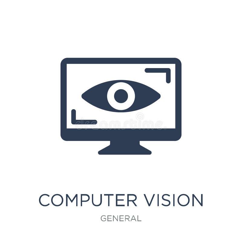komputerowego wzroku ikona Modna płaska wektorowa komputerowego wzroku ikona dalej ilustracja wektor