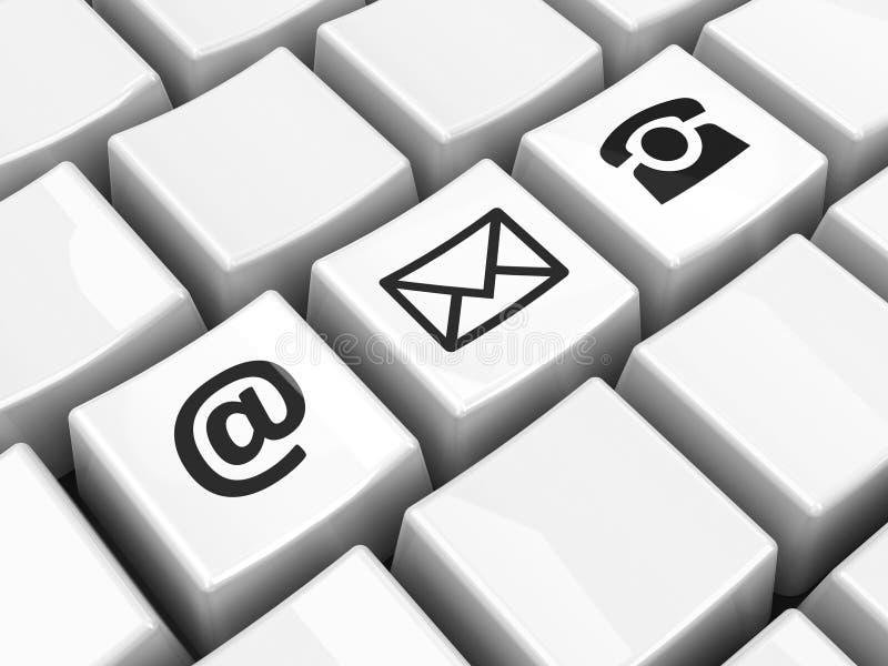 Komputerowej klawiatury czerni kontakt ilustracja wektor