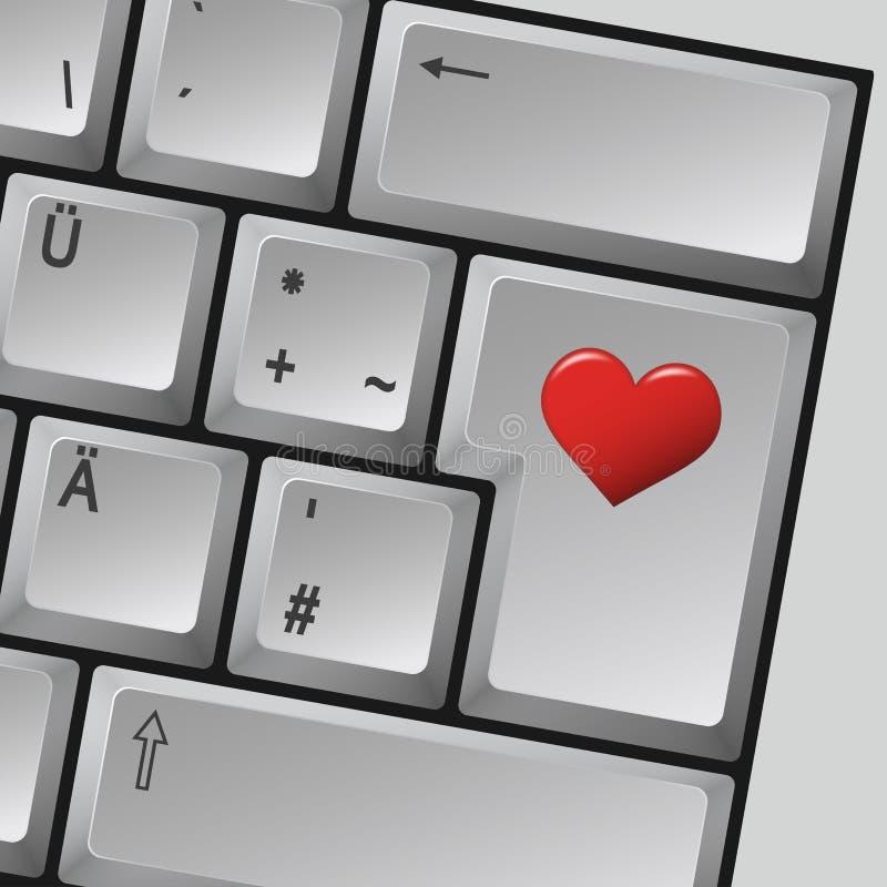Komputerowej klawiatury miłość royalty ilustracja
