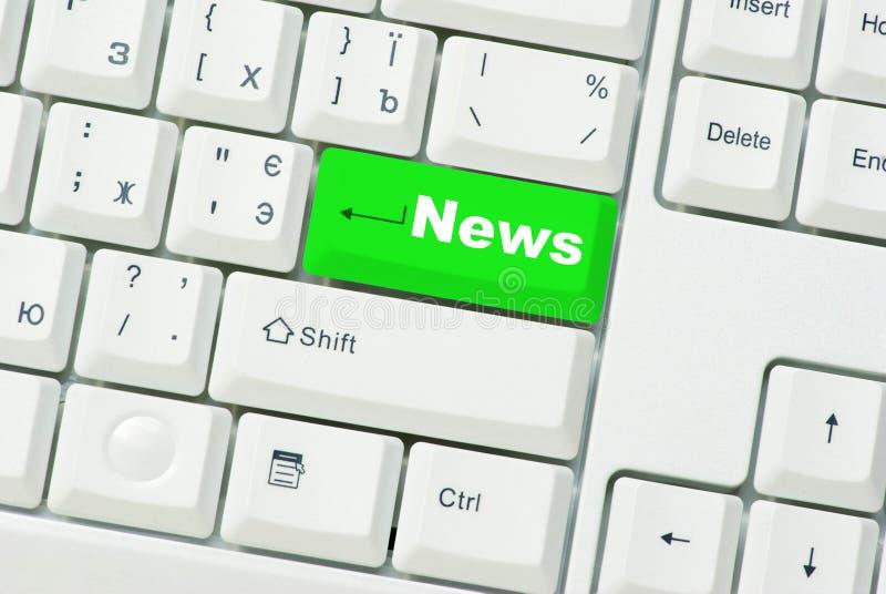 komputerowej klawiatury wiadomość obrazy stock