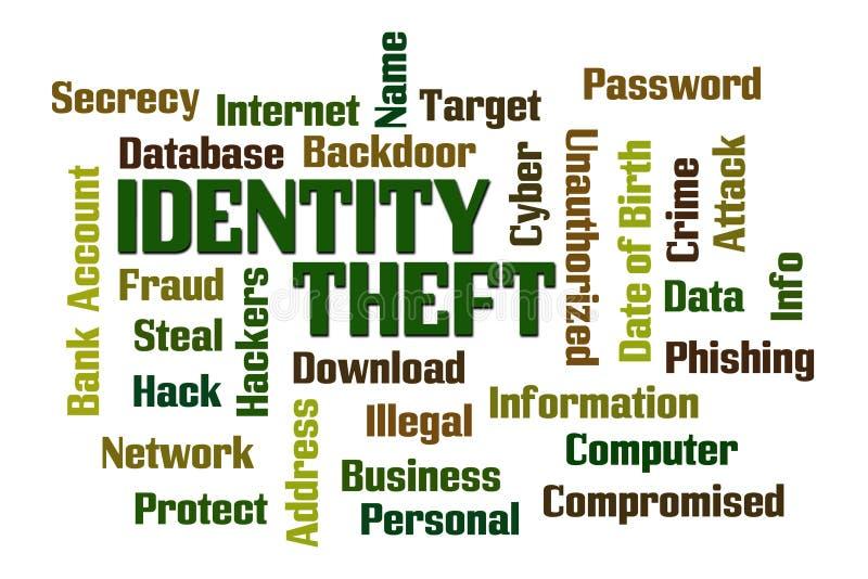 komputerowej pojęcia dane tożsamości laptopu noc ochrony komputerowy target1636_0_ kradzieżowy złodziej ilustracja wektor