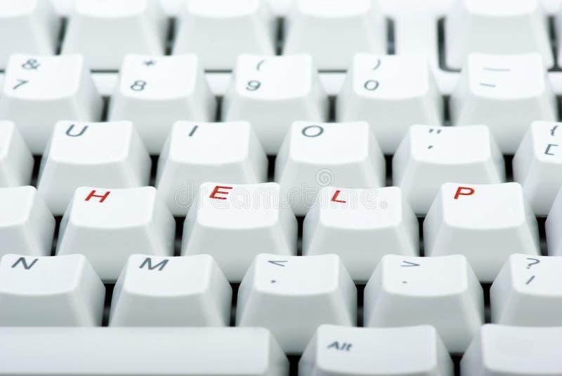 komputerowi pomoc klawiatury klucze obrazy royalty free