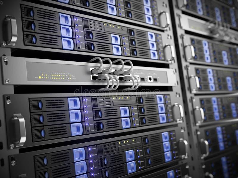 komputerowi serwery ilustracja wektor