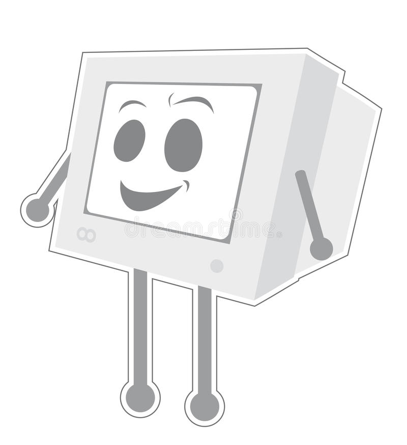 komputerowy śmieszny retro royalty ilustracja