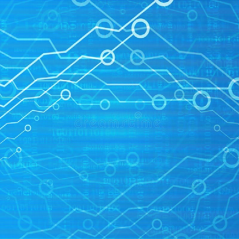Komputerowy circuitry ilustracja wektor