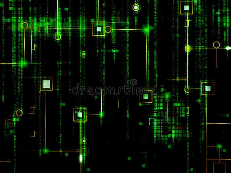 Komputerowy circuitry tło ilustracji