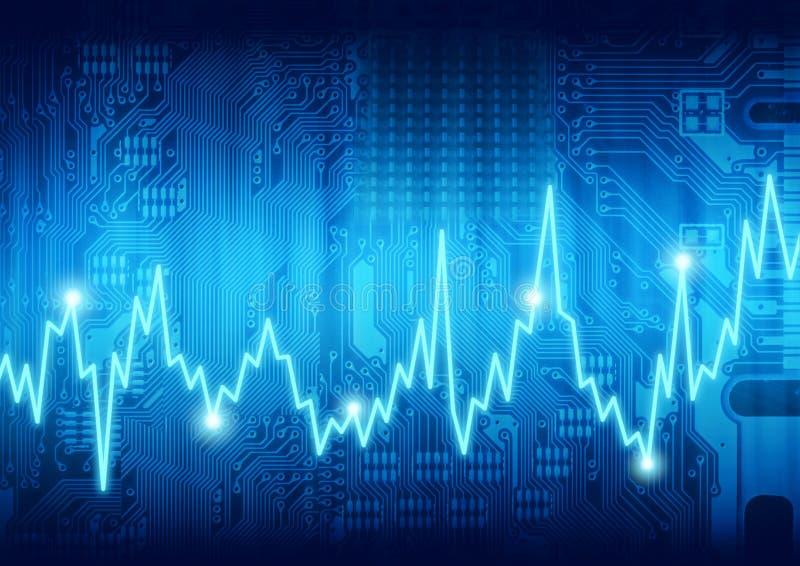 komputerowy cyfrowy bicie serca royalty ilustracja