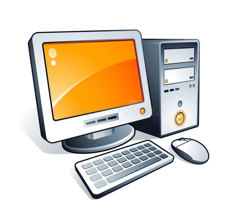 komputerowy desktop royalty ilustracja