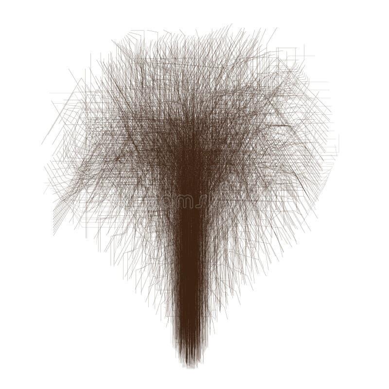 komputerowy drzewo royalty ilustracja