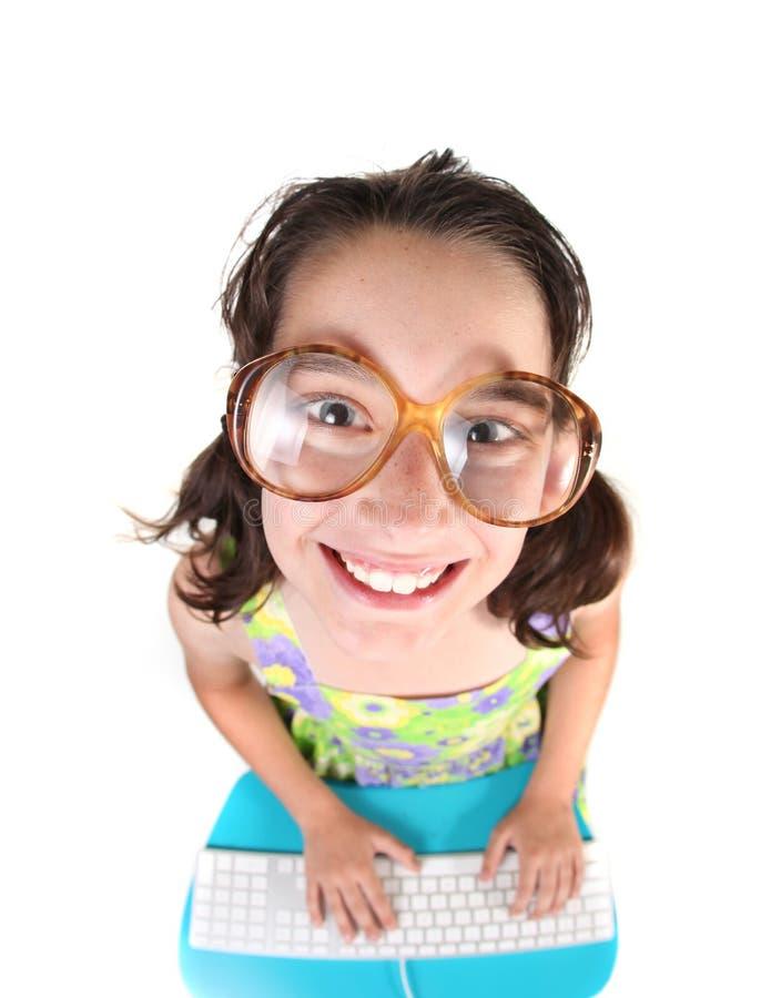 komputerowy dzieciak target2460_0_ komputerowy ja target2461_0_ w górę używać obraz stock