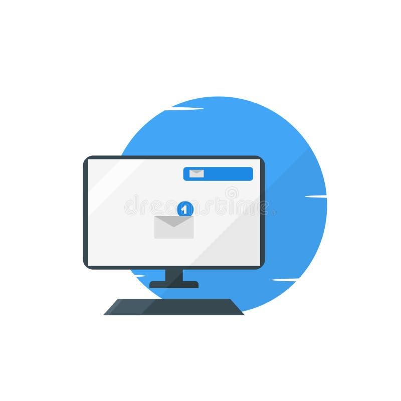 Komputerowy emaila powiadomienia ilustracji pojęcie ilustracji