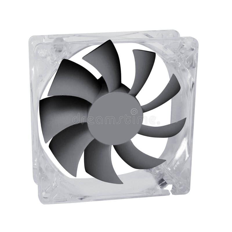 Komputerowy fan odizolowywający na bielu zdjęcia stock