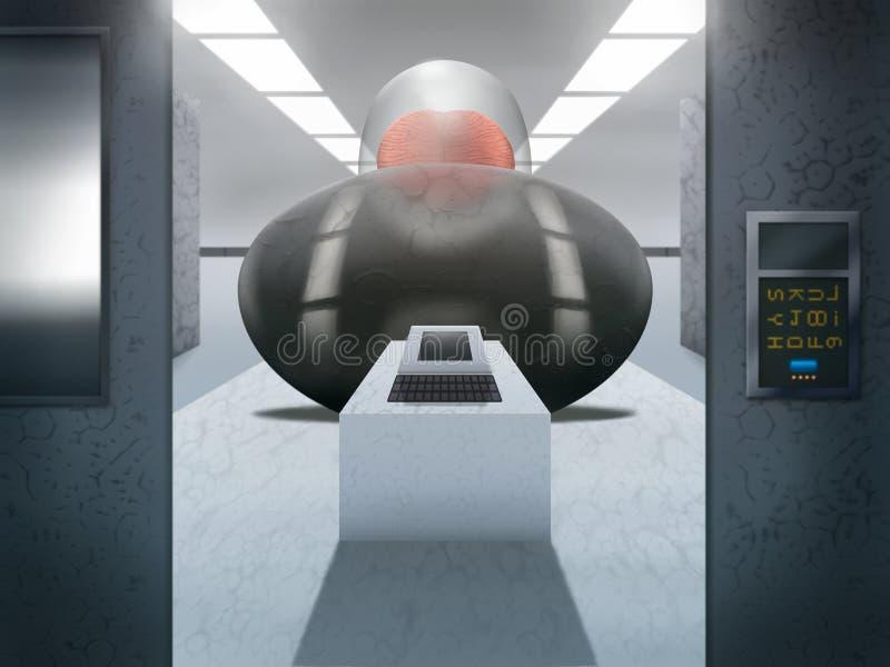 komputerowy fantastyka naukowa Pokój - Cyfrowej Ilustracja royalty ilustracja