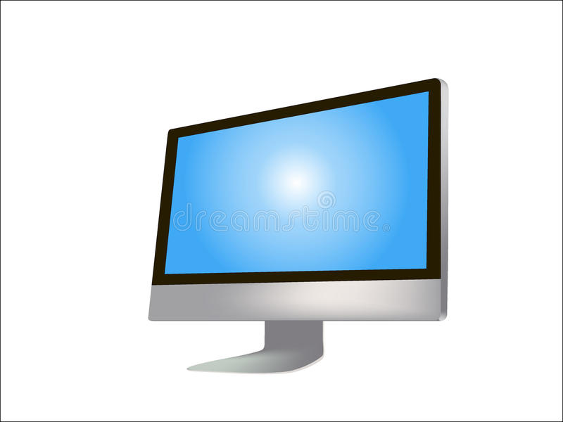 komputerowy ilustracyjny monitor fotografia royalty free