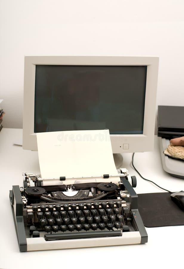 komputerowy maszyna do pisania zdjęcia royalty free