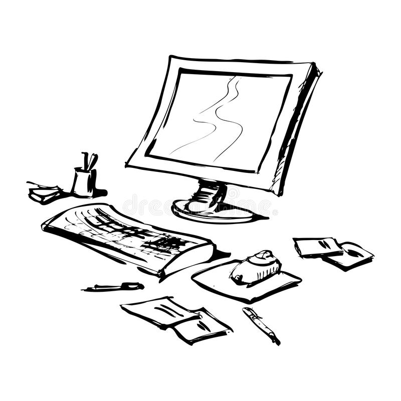 komputerowy materiał ilustracji
