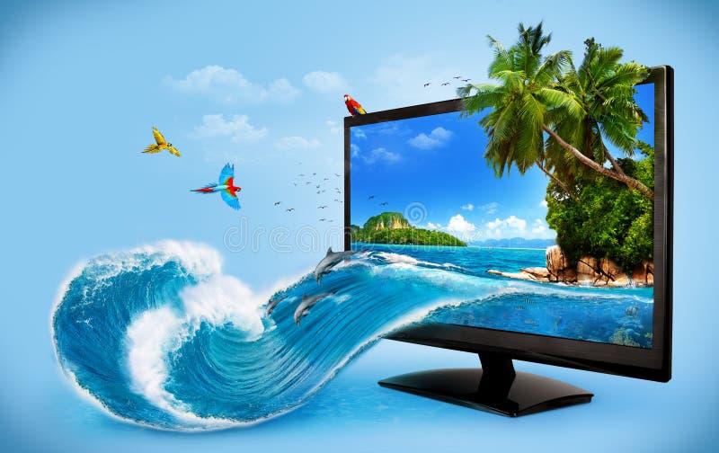 Komputerowy monitor ilustracji