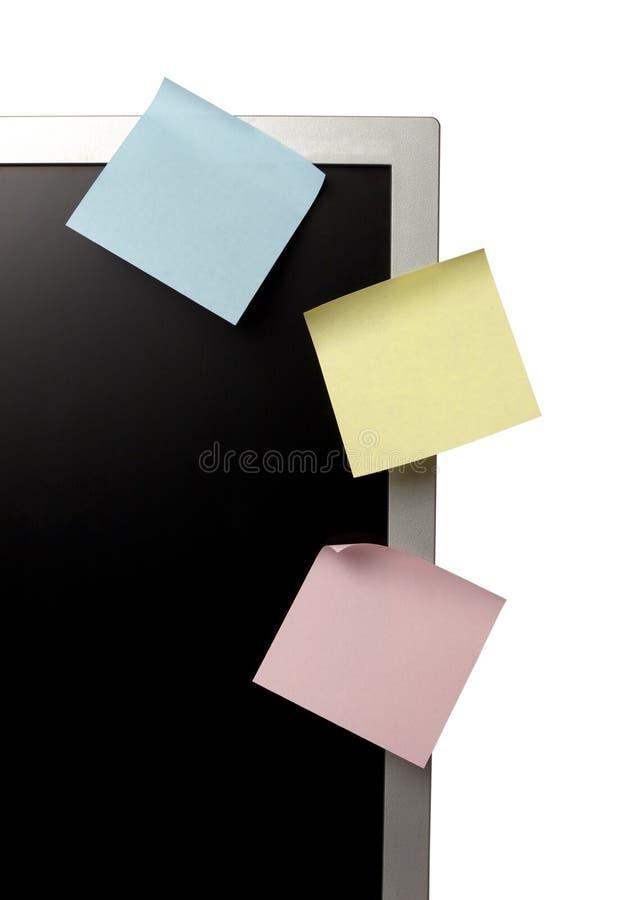 komputerowy monitoru notatek papier fotografia royalty free