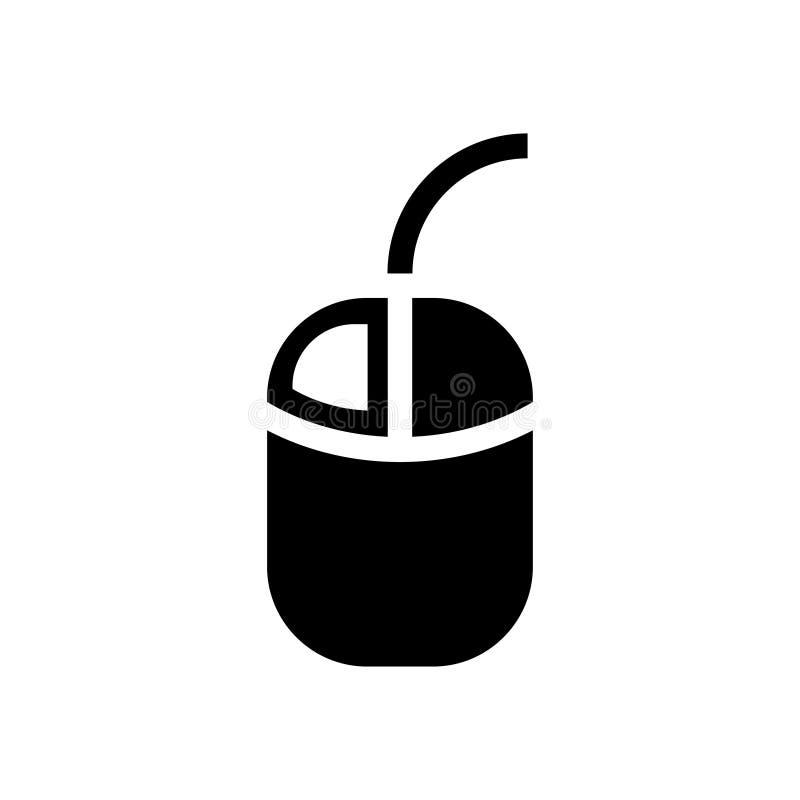 Komputerowy mysz lewego guzika sieci ikony wektor Czerń odizolowywający ilustracja wektor