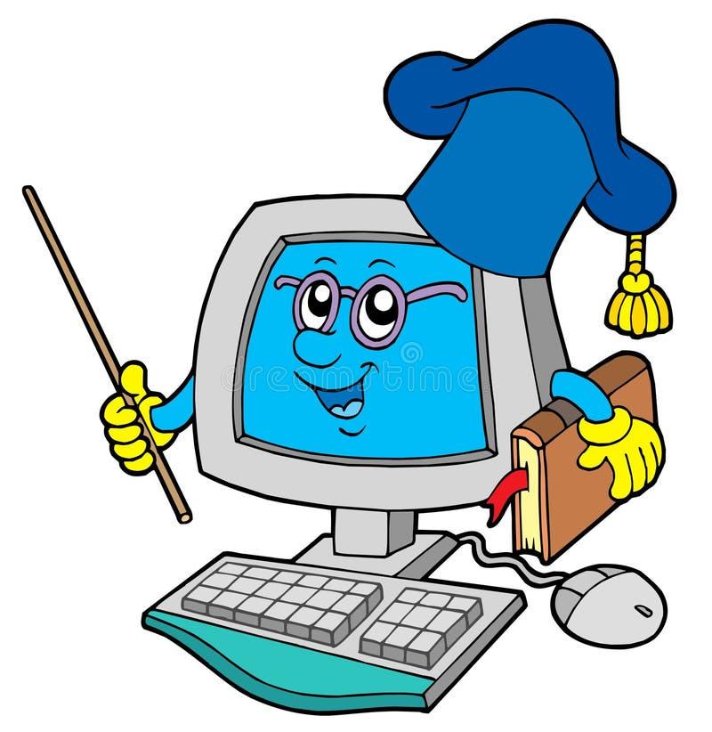 komputerowy nauczyciel ilustracja wektor
