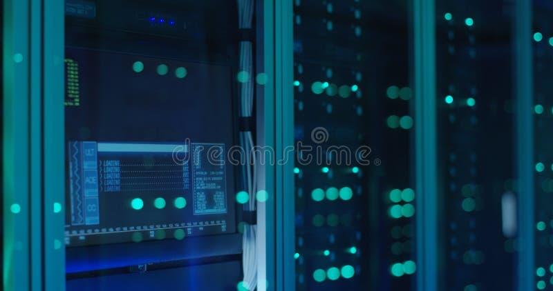 Komputerowy nazwa użytkownika ekran w nowożytnym centrum danych zdjęcie stock