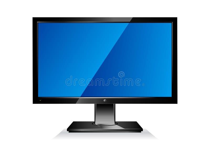 komputerowy płaski ekran ilustracja wektor