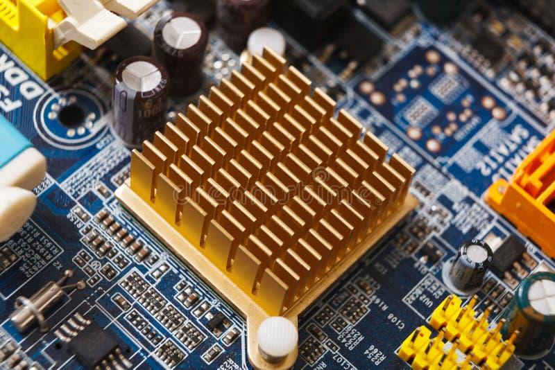 Komputerowy płyty głównej zakończenie, remontowy pojęcie obrazy royalty free