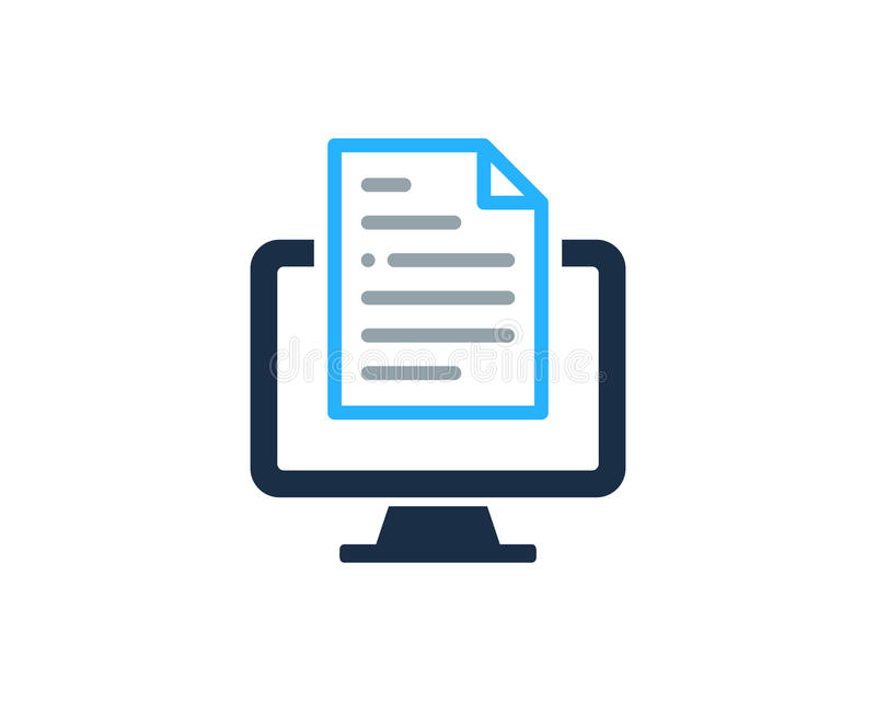 Komputerowy peceta dokumentu ikony loga projekta element ilustracja wektor