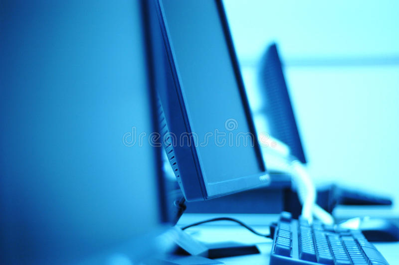 komputerowy pokój obrazy stock