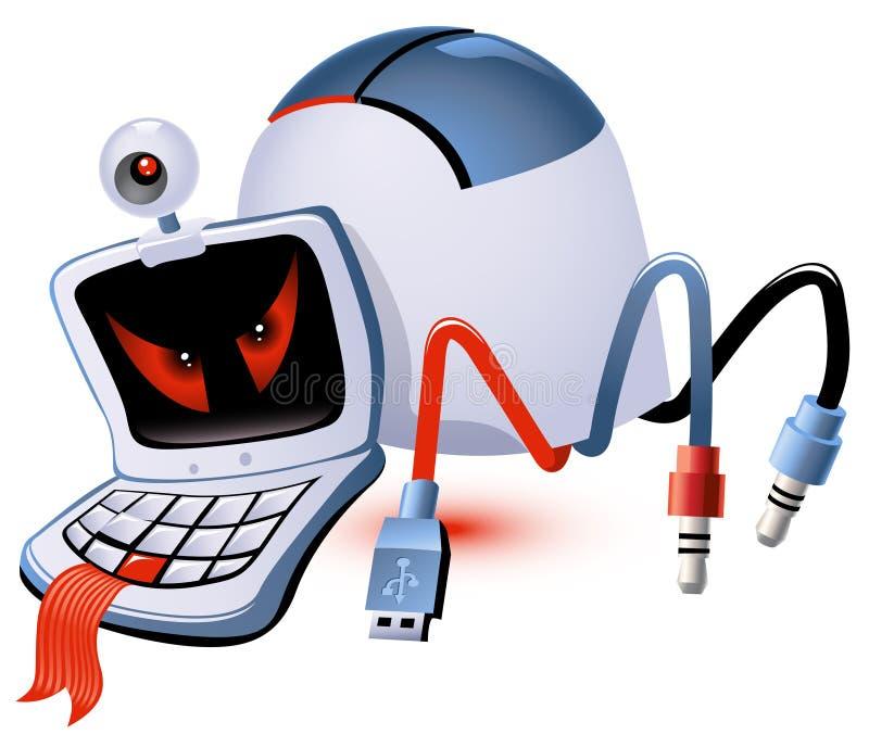 komputerowy potwór ilustracja wektor