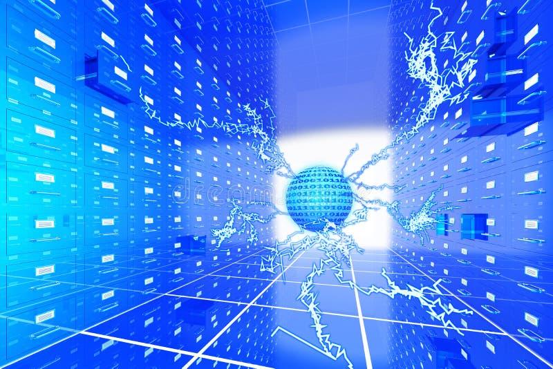 komputerowy przechowywanie danych ilustracji
