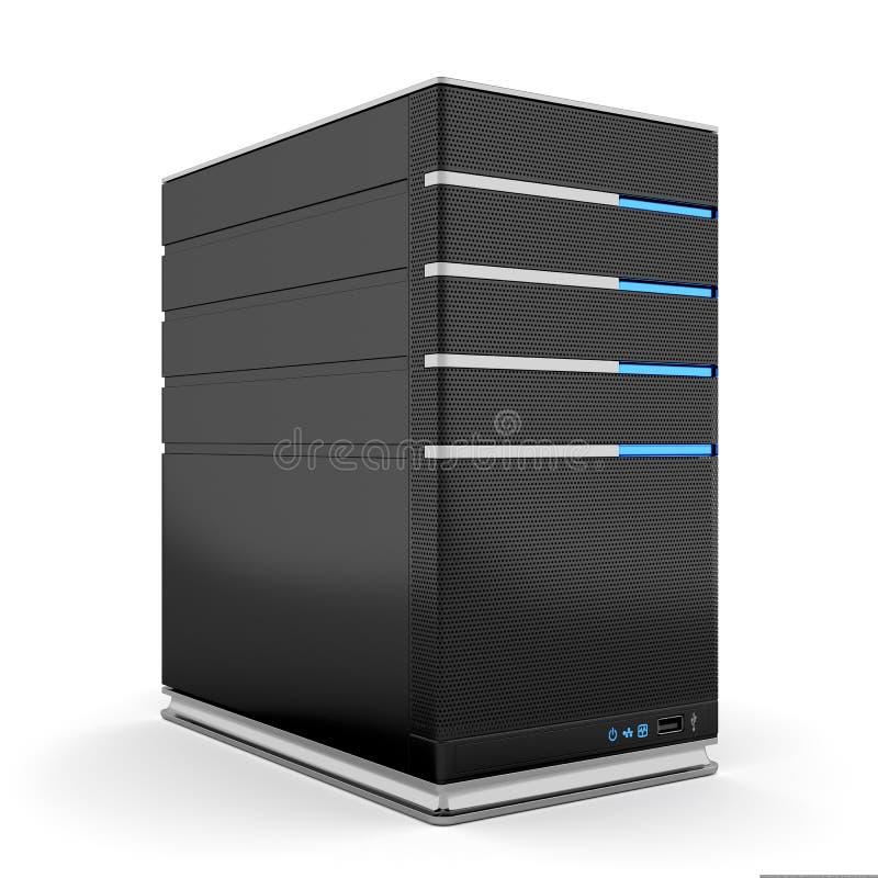 Komputerowy serwer royalty ilustracja