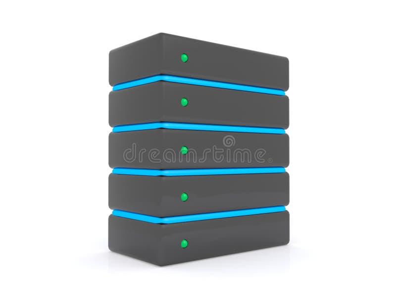 Komputerowy serwer ilustracji